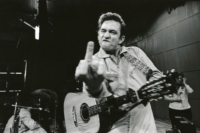 johnny cash middle finger